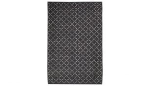 Chhatwal & Jonsson New Geometric Teppich Dark Grey / Off White