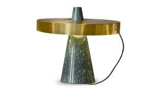 Edizioni Design ED039 Tischleuchte   Grün-Messing