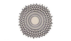 Niki Jones Concentric Kissen | Schiefer