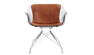 Overgaard & Dyrman Wire Dining chair chrome dark brown