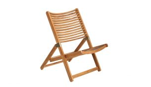 Pols Potten Rdam Lounge Teak Chair