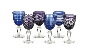 Pols Potten Cobalt Mix Wine Glasses | Set of 6