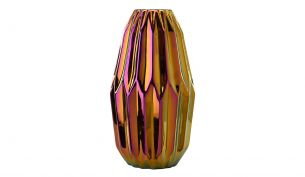 Pulpo - Container Vase versilbert altrosa-blau