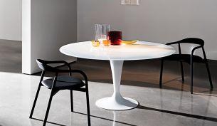 Sovet Flûte Tisch | Mattiertes Glas