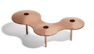 Zaha Hadid Design Serenity platter silver large