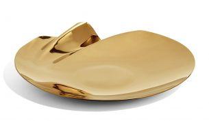 Zaha Hadid Design Serenity Platter Bowl | Gold