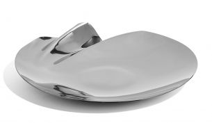 Zaha Hadid Design Serenity Platter Schale Silber | Ø 40 cm