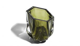Zaha Hadid Design Shimmer Tealight Holder | Olive Green