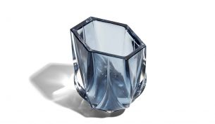 Zaha Hadid Design Shimmer Tealight Holder | skate blue