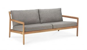 ethnicraft teak jack outdoor sofa 2-seater mocha