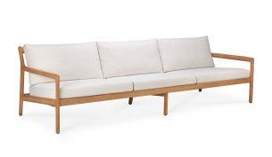 ethnicraft teak jack outdoor sofa 3-seater off white