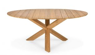 ethnicraft teak circle outdoor dining table 163