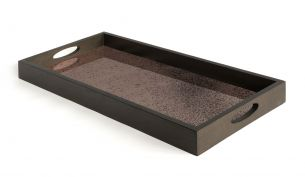 ethnicraft heavy aged bronze mirror tray