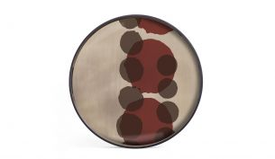 ethnicraft Layered Dots Tray Pinot