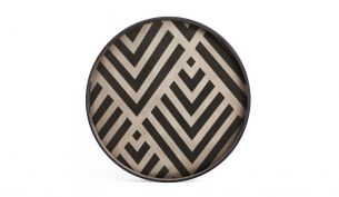 ethnicraft graphite chevron tray