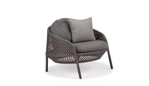 Dedon Ahnda Graphite Sitz- und Rückenkissen TWIST Gray