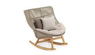 Dedon Mbrace Rocking Chair Pepper TWIST sand
