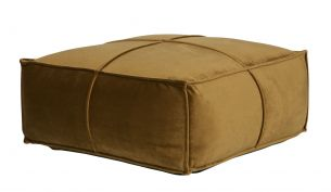 de eekhoorn honey pouf velvet honey yellow