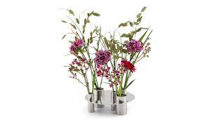Klong Awa Vase / Kerzenhalter Nickel