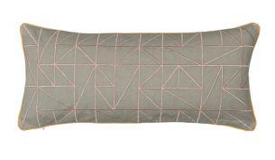 Niki Jones Linear 25x60 Dusky Pink / Dove Grey front