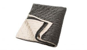 Niki Jones Velvet Linen Quilt Slate