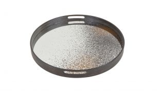 Notre Monde Aged Clear Mirror Tray | S