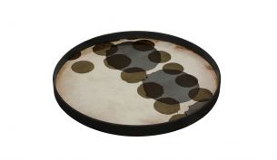 Notre Monde Layered Dots Tray Slate