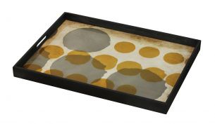 Notre Monde Sienna Layered Dots Tray | L