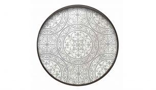 Notre Monde Moroccan Frost Mirror Tablett | L