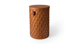 Pinetti Demetra Leather Basket | Round
