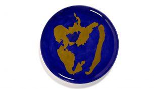 Serax Feast Servierteller 35 cm | Lapis Lazuli - Pepper Gold