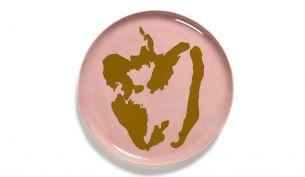 Serax Feast Servierteller 35 cm | Delicious Pink - Pepper Gold