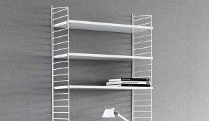 string shelf 200x78x30 white