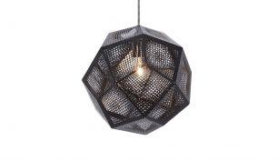 Tom Dixon Etch Black pendant light