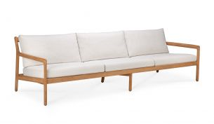 ethnicraft teak jack outdoor sofa 3-seater off white