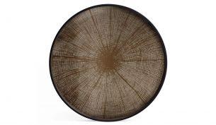 ethnicraft Bronze Slice Tray