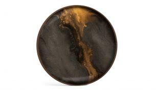 ethnicraft bronze organic Glas valet tray round L