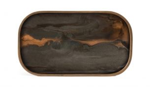 ethnicraft bronze organic Glass valet tray rectangular m
