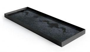 ethnicraft Charcoal Spiegel Tablett large