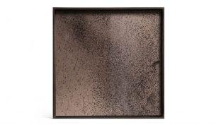 ethnicraft Bronze Mirror suqre tray l
