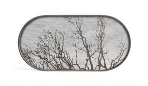 ethnicraft white tree wooden oblong tray m