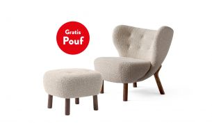 &tradition Little Petra VB1 Lounge Sessel inklusive Pouf ATD1