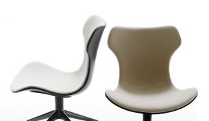 B&B Italia Papilio Shell Swivel Chair