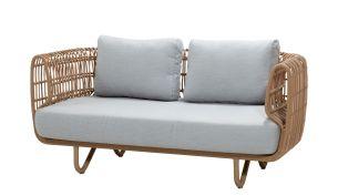 Cane-Line Nest Outdoor 2-Sitzer Sofa mit Kissensatz