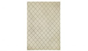 Chhatwal & Jonsson Diamond Rug Off White / Grey