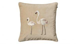 Chhatwal & Jonsson Flamingo Samtkissen 50 x 50 cm | Beige