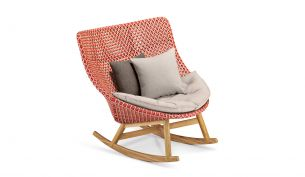 Dedon Mbrace Rocking Chair with Seat Cushion
