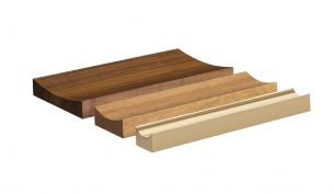 E15 Pen Tray walnut - oak - solid brass