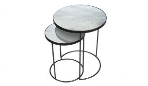ethnicraft Nesting side Table Set clear