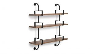 Gubi Demon 3 Shelves 95 cm Walnut